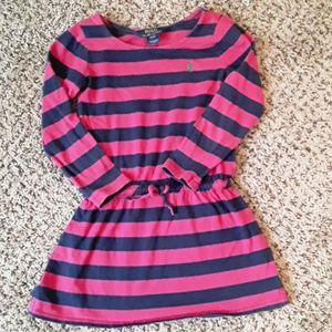 Girls Polo Pink and blue Striped Tunic